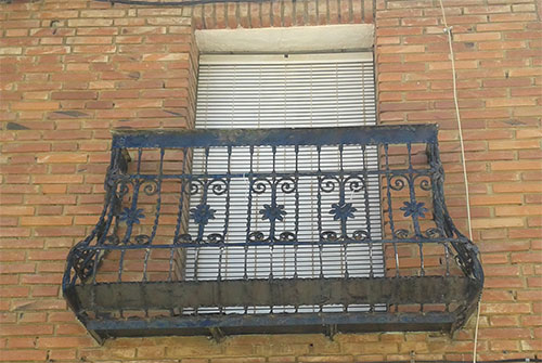 Pin rejas balcones hierro pictures genuardis portal on - Rejas de forja antiguas ...