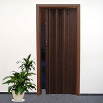 puerta fuelle PVC roble oscuro